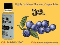 Niccolo Machiavelli provides a high delicious blueberry vapor juice with best quality ingredients & We are dedicated to giving you the best vaporizer and electronic cigarette gear.