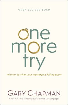 When doors slam and angry words fly, when things just aren't working out, and even when your spouse has destroyed your trust, there isstillhope. If you feel like your marriage is near the breaking point, or even if you've already separated, Gary Chapman will show you how you can give your marriage one more try.One More Try will help you . . .Take the next step when blindsided in marriage;Discover healthy ways to manage frustration and anger;Effectively deal with loneliness;Renew hope and…