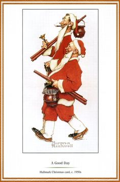 A good day by norman rockwell norman rockwell норман роквелл Norman Rockwell Christmas, Norman Rockwell Art, Norman Rockwell Paintings, Christmas Pictures, Christmas Art, Vintage Christmas, Jc Leyendecker, Christmas Illustration, Illustrations