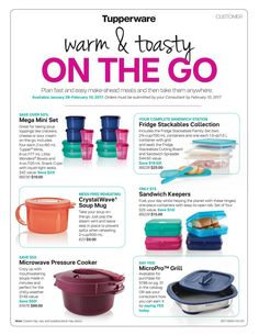 Take your Lunch In Style Tupperware or Get our Amazing Mirco Pro Grill ..You can Grill Chicken or Pork or even Vegetable or even Make Grill Cheese Sandwich in this Amazing Miico Pro Grill..Orders yours today Message me or Text me 281-475-7309 to order yours today.