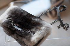 Fur purse clutch