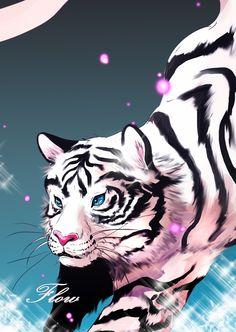 the white tiger in Flow #webtoon #webtoons #flow #art #illustration m.webtoons.com