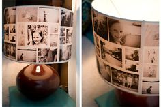 Picture lampshade...must try!!! Love this.