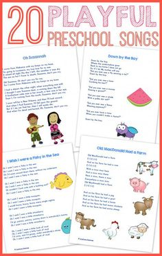 Best Preschool Songs {free printable Best Preschool Songs -- Excellent list of essential songs for PK and K - what is on your essential song list?Best Preschool Songs -- Excellent list of essential songs for PK and K - what is on your essential song list? Preschool Songs, Preschool Lessons, Preschool Kindergarten, Preschool Learning, Free Preschool, Free Printables Preschool, Movement Songs For Preschool, Circle Time Ideas For Preschool, Transition Songs For Preschool