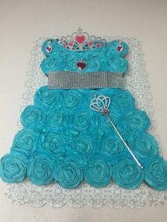 Princess cupcake dress. Princess Cupcake Dress, Princess Cupcakes, Cupcakes Design, Fondant, Fondant Icing, Princess Cupcake Cakes, Candy