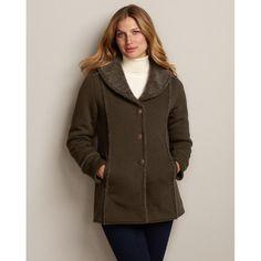 Eddie Bauer Reversible Sherpa-Lined Blanket Coat Blanket Coat, Stylish Coat, Down Parka, Sherpa Lined, Eddie Bauer, Women Accessories, My Style, How To Wear, Fashion Design