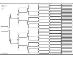 blank family tree diagram