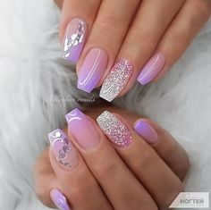 Nails Classy The best nail art photos using Gelish nail polish and gel With Beautiful Design For Your Nails Get Here Picture Credit merlin_nails Lynn Nails, Ruby Nails, Purple Nails, Gel Nails, Manicure, Nail Polish, Coffin Nails, Fingernails Painted, Purple Glitter