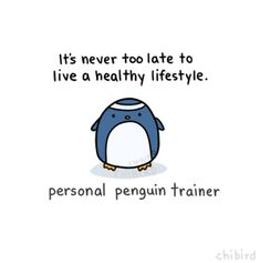 Image on Hiit Blog  http://www.dailyhiit.com/hiit-blog/social-gallery/sa-mo-22-2 Healthy Lifestyle Motivation, Fit Motivation, Penguin Love, Cute Penguins, Funny Penguin, Felt Penguin, Health Exercise, Personal Trainer Quotes, Gifs