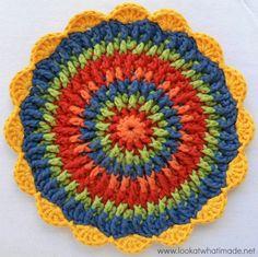 Front Post Frenzy Crochet Potholder - FREE pattern