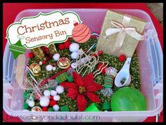 Christmas Sensory bin idea