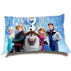 "Disney Frozen Cotton Pillow Case Custom size 18"" x 18 size 20"" x 30"" Home Decor, One Side"