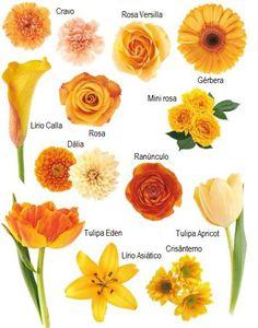 Casamento + Flores laranjas | Wedding + Orange flowers