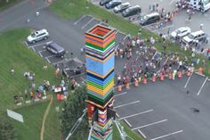 This 11-story LEGO Tower is Officially the World's Tallest.  It weighs more than a ton and stands over 113ft tall.