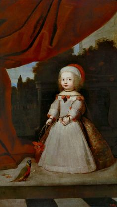 Portrait of Archduchess Eleanor Maria Josepha of Austria at the age of 2 by Anonymous, ca. 1655 (PD-art/old), Museo Nacional del Prado