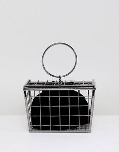 ASOS DESIGN New Shopping Basket Cage Bag