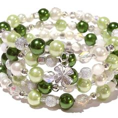 green beads bracelet -- I want this for St. Patty's day!!