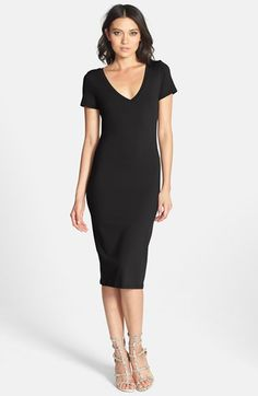 Leith V-Neck Body-Con Dress available at #Nordstrom
