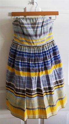 ANTHROPOLOGIE MAEVE sz 2 PARAISO painted stripes corset dress EUC #Anthropologie #AnthropologieDresses