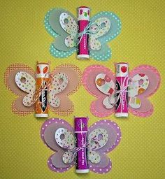Birthday Ideas For Girls Gifts Kids Crafts 70 Ideas Homemade Gifts, Diy Gifts, Homemade Party Favors, Tea Party Favors, Kids Crafts, Butterfly Birthday Party, Butterfly Party Favors, Butterfly Gifts, Butterfly Baby Shower
