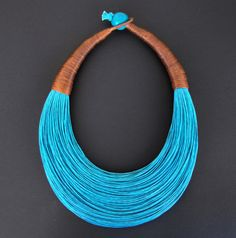 Statement Fiber Necklace by superlittlecute  Use coupon code SUPERPIN to save 10% now!