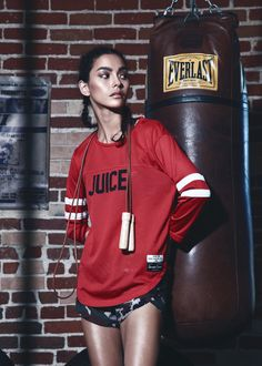 Sweat Crew 2015 Fall Editorial by 'SIZE'  Adrianne Ho models her debut Sweat Crew collection.