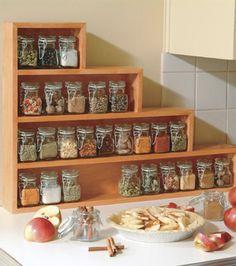 Une étagère à épices en escalier