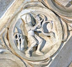 Zodiac Signs and Monthgly Activities in the Basilique Ste-Madeleine, Vezelay Medieval Art, 12th Century, Romanesque, Roman Empire, Renaissance, Zodiac Signs, Sculptures, Activities, Madeleine