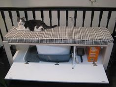 DIY litter box bench. Would love to make something like this.