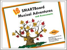 18 SMARTBoard Musical Adventures & Assessments / Collection of 18 different musical assessment activities perfect for grades 2- 4. These pages are filled with fun musical adventures with linked sounds and crazy SMARTBoard coolness...  guaranteed to keep your music classes filled with fun, high-energy learning experiences right in the middle of an assessment. Taking a test in music class has never been so cool! Multi-leveled... explore the details.