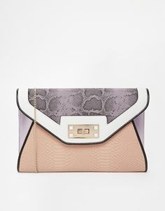 New Look – Darcy – Clutch mit Blockstreifen