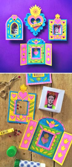 Make your own Nicho for Day of the Dead! Templates and tutorial at happthought.co.uk