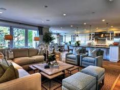 Image result for stunning living room/family room/kitchen combinations