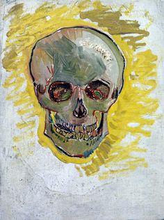 "dappledwithshadow: ""Skull Vincent van Gogh Paris, May 1887 oil on canvas, 40.7 cm x 30.5 cm Van Gogh Museum, Amsterdam (Vincent van Gogh Foundation) """