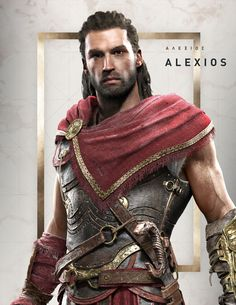Alexios Portrait from Assassin's Creed Odyssey #illustration #artwork #gaming #videogames #characterdesign