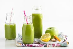 All Day Glow Green Smoothie made in the Vitamix