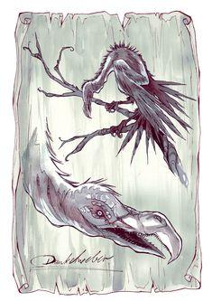 """Ein Dunkelweber aus """"Herz aus Schatten"""" - Illustration von Anja Uhren Illustration, Shadows, Darkness, Heart, Illustrations"""