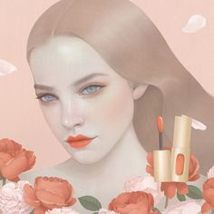 Feminine illustration by Hsiao-Ron Cheng.