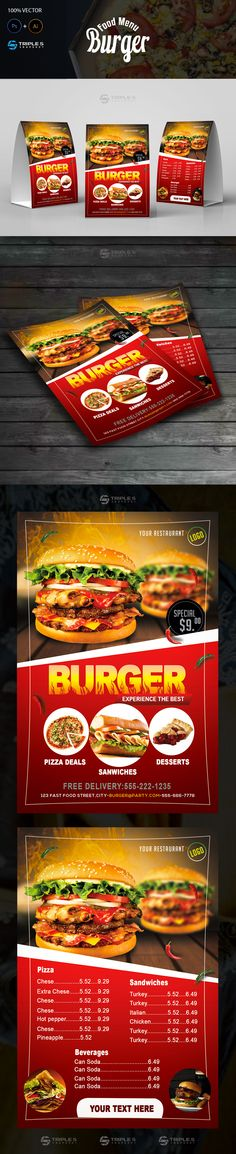 Burger Flyer & Menu on Behance