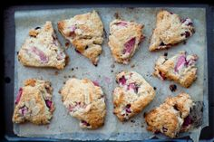 Buttered Up: Coconut Rhubarb Scones