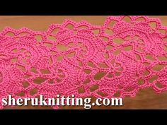 Get the more patterns at http://sheruknitting.com/ In this part of tutorial we continue crocheting a tape you need to repeat a half of the same round pattern...