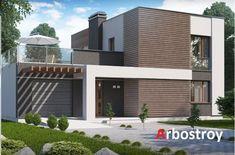 Проект дома из арболита 185 м2 в стиле ХайТек.Купить проект дома из арболита, индивидуальное проектирование, строительство данного дома из арболита...