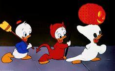 "vintagegal: ""Disney's Trick or Treat "" Halloween Iii, Disney Halloween, Vintage Halloween, Happy Halloween, Disney Duck, Disney S, Disney Wallpaper, Mood Wallpaper, Halloween Cartoons"
