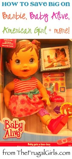 BIG List of Tips and DIY Tricks to Save Money on Barbies, Baby Alive, American Girl, and more Dolls from TheFrugalGirls.com #barbie #americangirl #thefrugalgirls