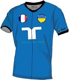 Frankreich - Ukraine l France - Ukraine kurzarm Trikot mit Wunschnamen und Wunschnummer