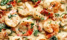 Ces pâtes aux crevettes ont un p'tit quelque chose qui nous charme à tout coup!
