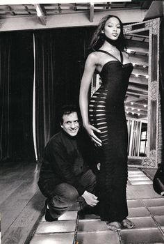 1996 - Azzedine Alaia & Naomi Campbell by Jean Marie Perrier in Elle
