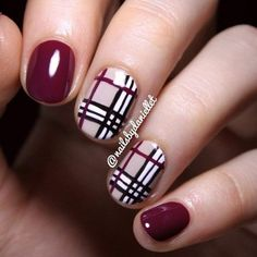39 Awesome Plaid Nail Art Designs For Your Preppy Days