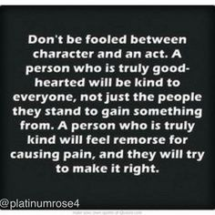 Huge difference. One is a user, the other is genuine. And it's rare to find genuine. Most people are out for themselves.