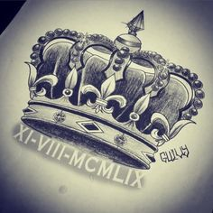 Zugehöriges Bild - Marc & i - Datum Tattoo Crown Tattoos For Women, King Crown Tattoo, Crown Tattoo Design, Queen Tattoo, Tattoo Drawings, Body Art Tattoos, New Tattoos, Hand Tattoos, Sleeve Tattoos